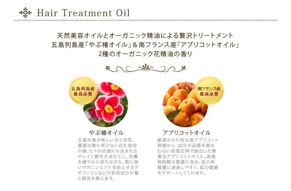 伝統の椿オイルと南仏産杏仁オイル、自然の恵みで輝くツヤ髪、健やかな地肌