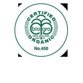 biogro,オーガニック認証マーク付