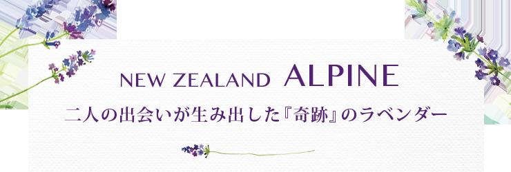 NEWZEALAND ALPINE,二人の出会いが生み出した『奇跡』のラベンダー